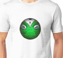 Portrait of Reptile alien with helmet Unisex T-Shirt