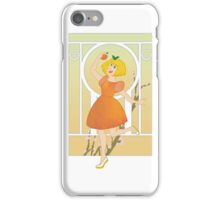 Art Nouveau Peach Girl iPhone Case/Skin
