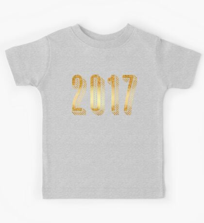 Gold Typography New Years 2017 Kids Tee