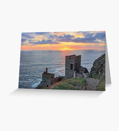 Crown Mines - Botallack, Cornwall. Greeting Card