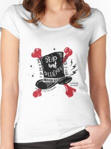 Dead But Delicious, What We Do in the Shadows Women's Fitted Scoop T-Shirt
