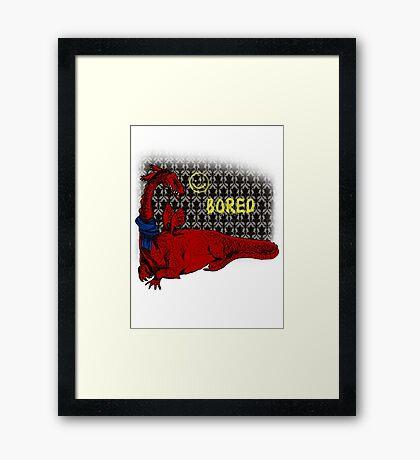 Reluctand Smaug Framed Print