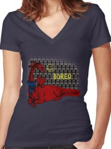 Reluctand Smaug Women's Fitted V-Neck T-Shirt
