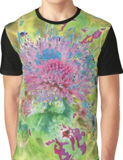 Psychedelic Flower Explosion Graphic T-Shirt