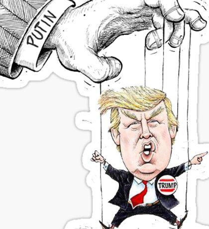 Trump Putin's Puppet Sticker Sticker