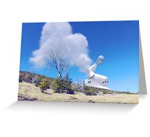 Reactor Venting on the Hillside Greeting Card