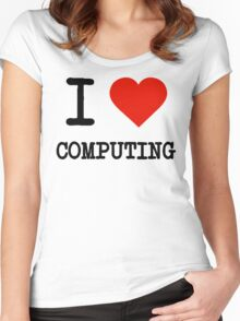 I Love Computing Women's Fitted Scoop T-Shirt
