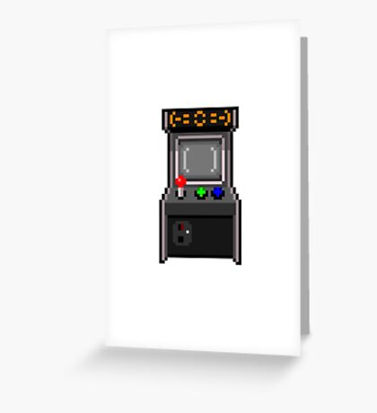Arcade Cabinet Greeting Card