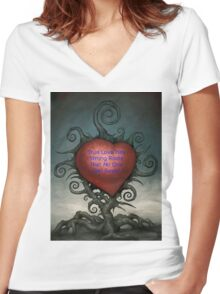 True Love Roots Women's Fitted V-Neck T-Shirt