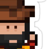 Pixel Pirate Ahoy Sticker