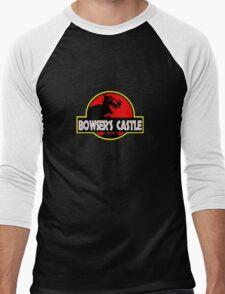 Jurassic Bowser  Men's Baseball ¾ T-Shirt