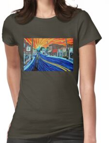 'SUNRISE SONG FOR NoDa IN THE 90s' Womens Fitted T-Shirt