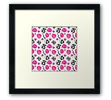 Fun Retro Phone Pattern Framed Print