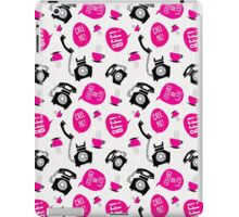 Fun Retro Phone Pattern iPad Case/Skin