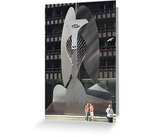 Chicago Picasso Greeting Card