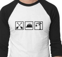 Construction worker Men's Baseball ¾ T-Shirt