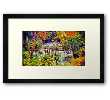Autumn landscape with waterfall Framed Print