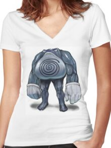 Realistic looking Polywrath Women's Fitted V-Neck T-Shirt