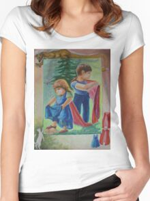 Anna And Paul - Superman And The Mad Mermaid Queen Women's Fitted Scoop T-Shirt