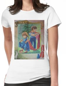 Anna And Paul - Superman And The Mad Mermaid Queen Womens Fitted T-Shirt