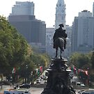 Statue, Benjamin Franklin Parkway, City Hall, Philadelphia, Pennsylvania  by lenspiro