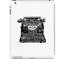 Underwood Typewriter (BW) iPad Case/Skin
