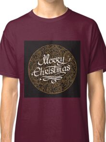 Merry Christmas handmade lettering  Classic T-Shirt