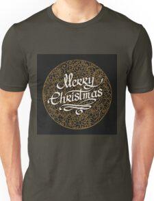 Merry Christmas handmade lettering  Unisex T-Shirt