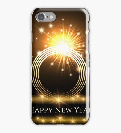 Happy New Year Card Design iPhone Case/Skin