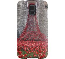 A Cascade Of Poppies At The Tower Of London Samsung Galaxy Case/Skin