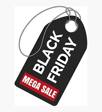 Black Friday sale badge Photographic Print