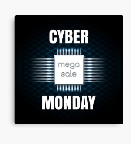 Cyber Monday sale banner template Canvas Print