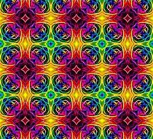 Retro Hippie Rainbow Design by Pixie Copley LRPS