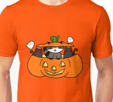 Halloween Black Cats and Raccoon Unisex T-Shirt