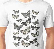 Moths on fly b&w vintage 1920's design! Unisex T-Shirt
