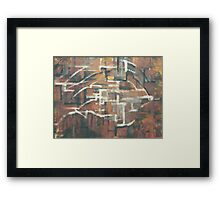 ABSTRACT COPPER(C2000) Framed Print