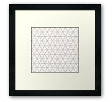 Ivory dotted triangles Framed Print