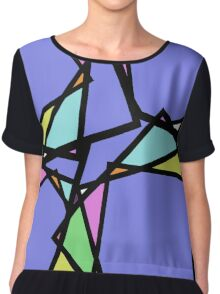 Stain Glass Abstract Chiffon Top