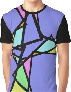 Stain Glass Abstract Graphic T-Shirt