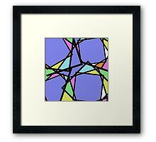 Stain Glass Abstract Framed Print