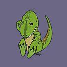 Sleepy Albertosaurus by Olluga