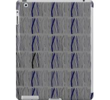 Gray blue sticks pattern iPad Case/Skin