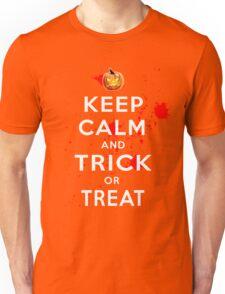 Halloween Keep Calm Trick or Treat Costume Unisex T-Shirt
