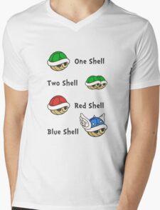 One Shell Two Shell Mens V-Neck T-Shirt