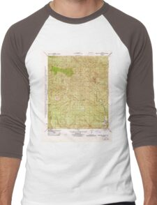 USGS TOPO Map California CA Cobblestone Mountain 296008 1944 31680 geo Men's Baseball ¾ T-Shirt