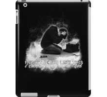 Alan Wake 'I can't going like this....' - black version iPad Case/Skin