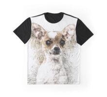 Chihuahua Sketch Portrait Graphic T-Shirt