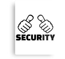 Security Metal Print