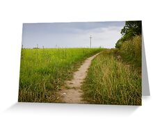 Rural Path Closeup Greeting Card
