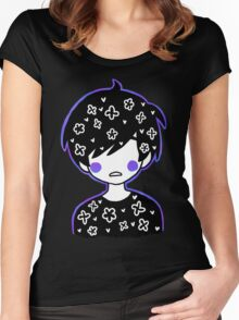 space petals Women's Fitted Scoop T-Shirt